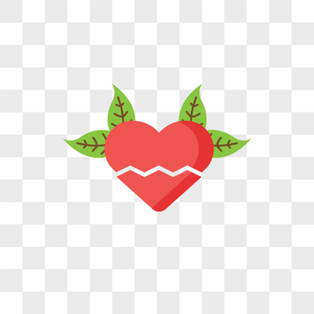Heartbreak vector icon isolated on transparent background, Heartbreak logo concept