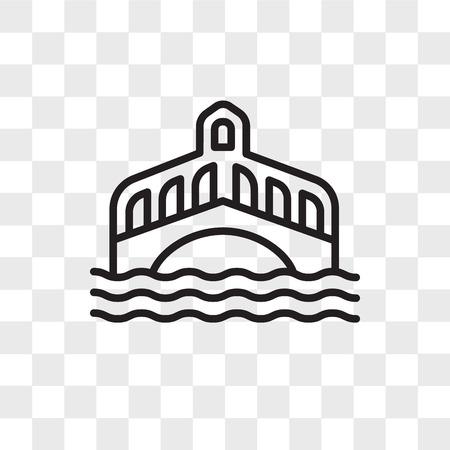 Venedig-Vektorikone lokalisiert auf transparentem Hintergrund, Venedig-Logo-Konzept