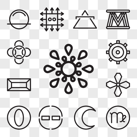Set Of 13 transparent editable icons such as Inequality, Virgo, Moon, Encouragement, Greatness, Soot, Gold, Authority, Loyalty, web ui icon pack, transparency set