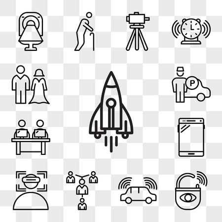 Set Of 13 transparent editable icons such as stellar lumens, anti theft, autonomous driving, mentorship, immersion, , coworking space, valet, spouse, web ui icon pack, transparency set