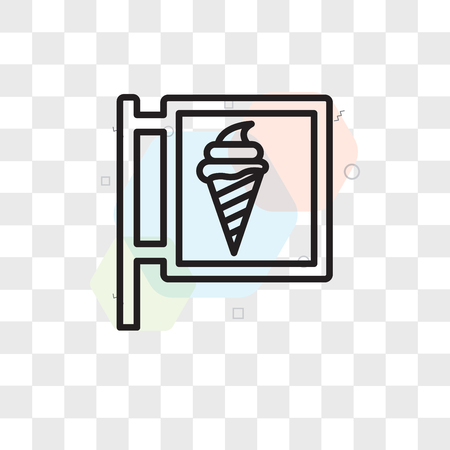Ice cream vector icon isolated on transparent background, Ice cream logo concept