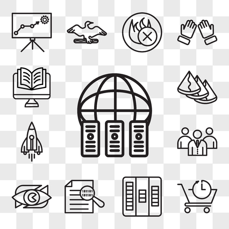 Set Of 13 transparent icons such as colocation, pre order, kanban, data integrity, neighborhood watch, employer branding, stellar lumens, samosa, web ui editable icon pack, transparency set