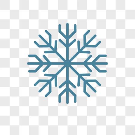 Icono de vector de escarcha aislado sobre fondo transparente, concepto de logo de escarcha
