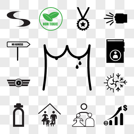 Set Of 13 transparent editable icons such as lactation, gdp, our family, fire dept, hvac, Airforce, guestbook, no address, web ui icon pack, transparency set