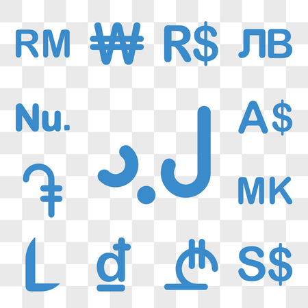 Set Of 13 transparent icons such as Libya currency, Singapore Georgia Croatia Honduras Malawi web ui editable icon pack, transparency