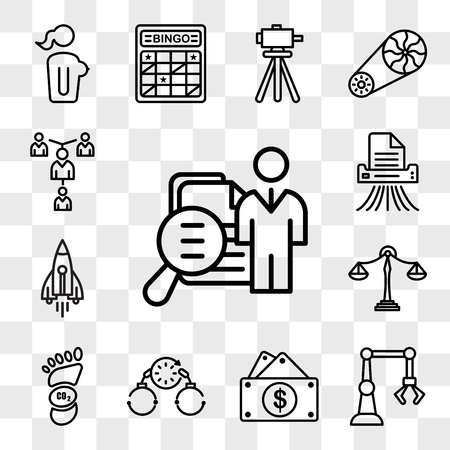 Set Of 13 transparent icons such as job fair, industry 4.0, capital expense, bail, carbon footprint, benchmarking, stellar lumens, shding, web ui editable icon pack, transparency set