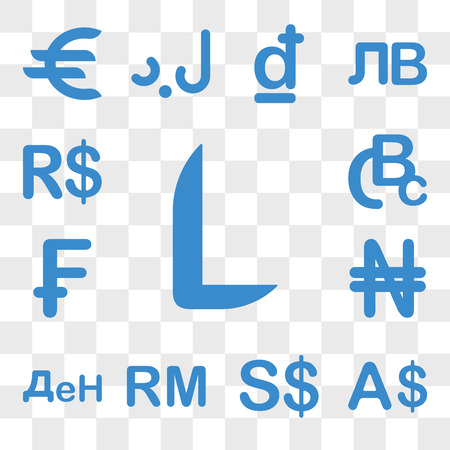Set Of 13 transparent icons such as Honduras currency, Currency Singapore Malaysia Macedonia Nigeria web ui editable icon pack, transparency