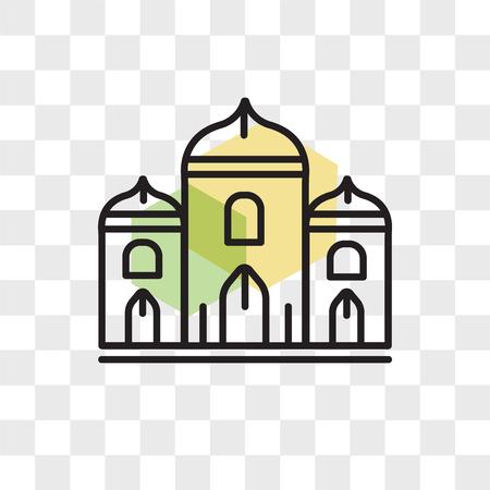 Palace vector icon isolated on transparent background, Palace logo concept Ilustração