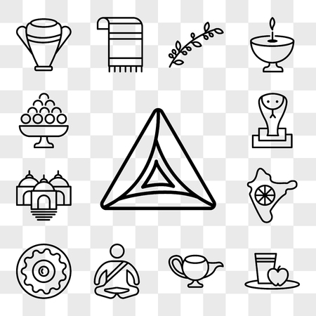 Set Of 13 transparent editable icons such as Hamantaschen, Diet, Genie Lamp, Meditation, Sufganiyah, India, Temple, Cobra, Laddu, web ui icon pack, transparency set