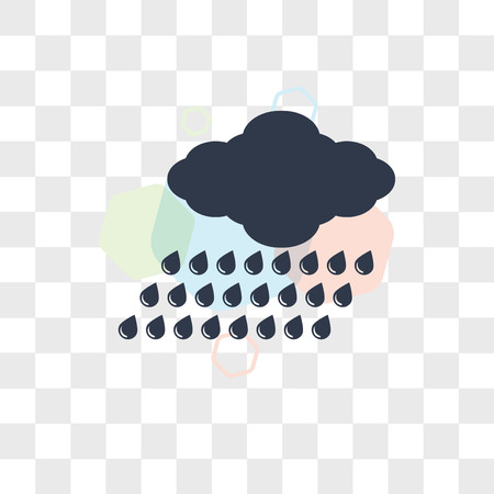 Raining vector icon isolated on transparent background, Raining logo concept