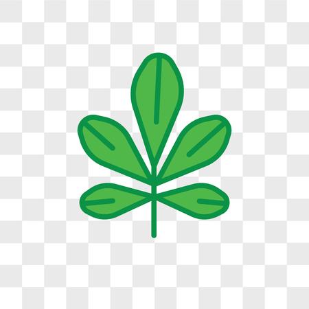 Chestnut leaf vector icon isolated on transparent background, Chestnut leaf logo concept Stock Illustratie