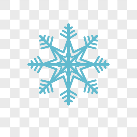Snowflake vector icon isolated on transparent background, Snowflake logo concept