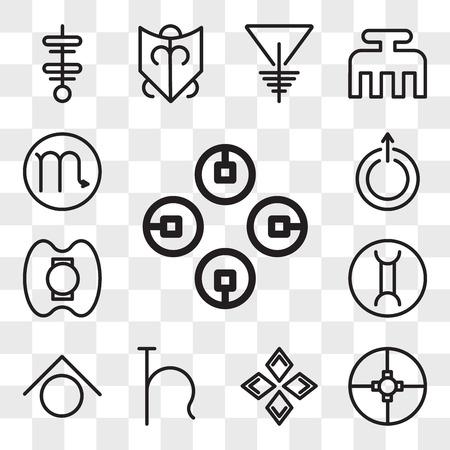 Set Of 13 transparent editable icons such as Commitment, Ingenuity, Safety, Uranus, Zinc, Gemini, Democracy, Scorpio, web ui icon pack, transparency set