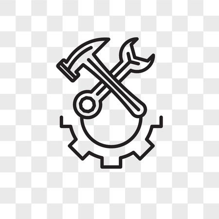 Icona di riparazione vettoriale isolato su sfondo trasparente, concetto di marchio di riparazione