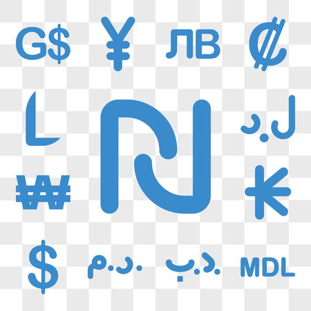 Set Of 13 transparent icons such as Israel currency, Moldova Bahrain Morocco Bermuda Laos web ui editable icon pack, transparency
