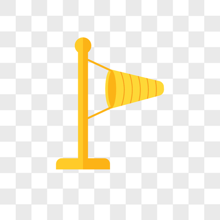 Windy vector icon isolated on transparent background, Windy logo concept Ilustração