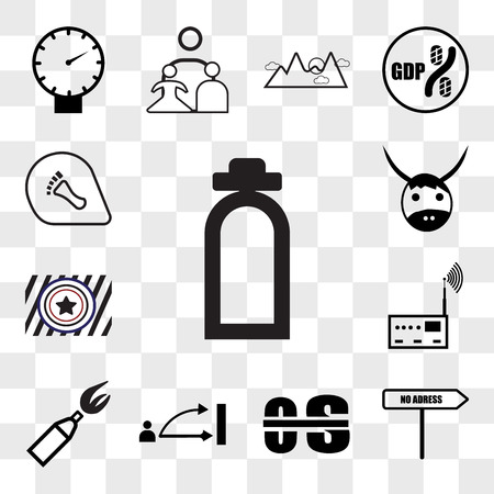 Set Of 13 transparent editable icons such as fire dept, no address, occupational therapy, disposition, anarchy, rf, Airforce, yak, podiatry, web ui icon pack, transparency set