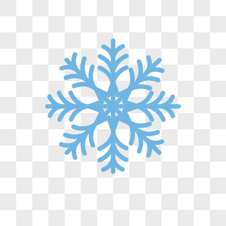 Snowflake vector icon isolated on transparent background, Snowflake logo concept  イラスト・ベクター素材
