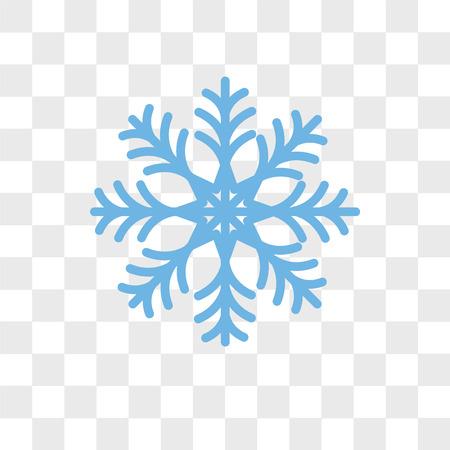 Icono de vector de copo de nieve aislado sobre fondo transparente, concepto de logo de copo de nieve