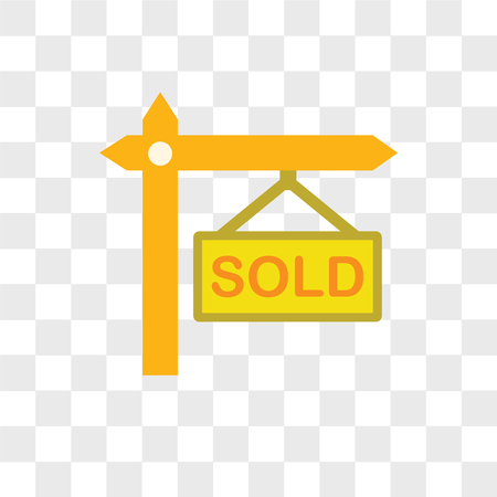 Sold vector icon isolated on transparent background, Sold logo concept Logo