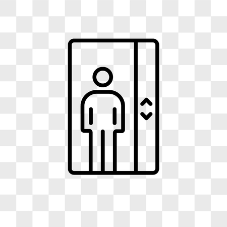 Elevator vector icon isolated on transparent background, Elevator logo concept  イラスト・ベクター素材