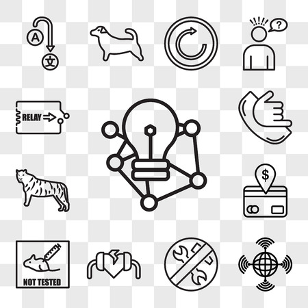 Set Of 13 transparent icons such as deep learning, wan, low maintenance, defibrillator, not tested on animals, direct debit, golden tiger, call me, web ui editable icon pack, transparency set