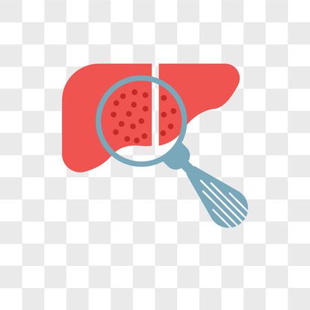 Icône de vecteur d'hépatite isolé sur fond transparent, concept logo hépatite Logo