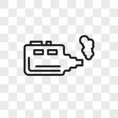 Electronic cigarette vector icon isolated on transparent background, Electronic cigarette logo concept