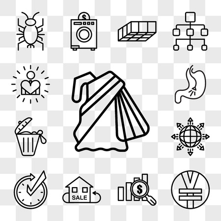 Set Of 13 transparent editable icons such as saree, rmb, value proposition, resale, realtime, global expansion, solid waste, endoscopy, self esteem, web ui icon pack, transparency set