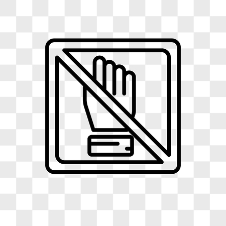 No touch vector icon isolated on transparent background, No touch logo concept