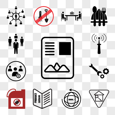 Set Of 13 transparent editable icons such as, monopoly house, website, product catalogue, antifreeze, equipment, become a member, telco, Staff, web ui icon pack, transparency set