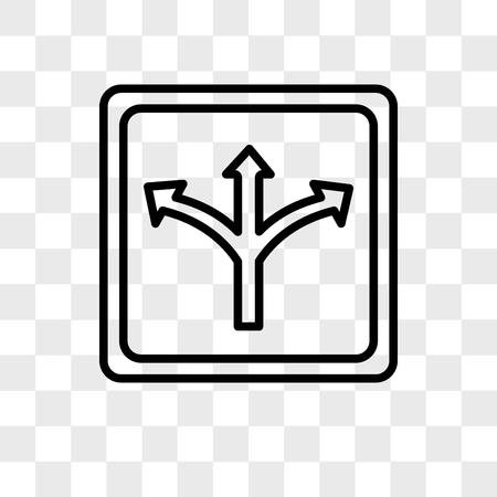 Icône de vecteur de trafic isolé sur fond transparent, concept logo trafic