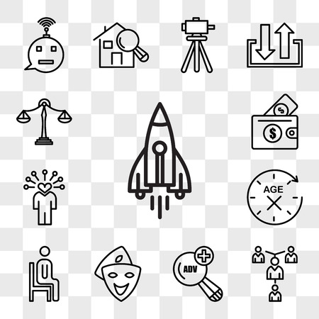 Set Of 13 transparent icons such as stellar lumens, mentorship, advanced search, cosplay, sitting down, anti aging, soft skills, affordability, web ui editable icon pack, transparency set