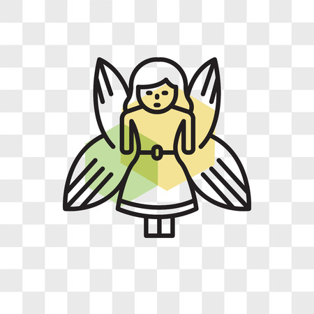 Fairy vector icon isolated on transparent background, Fairy logo concept