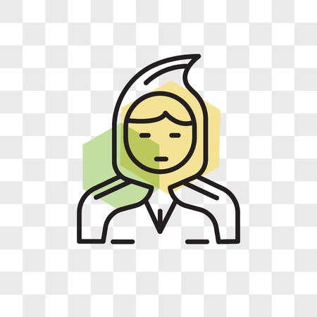 Little  riding hood vector icon isolated on transparent background, Little  riding hood logo concept