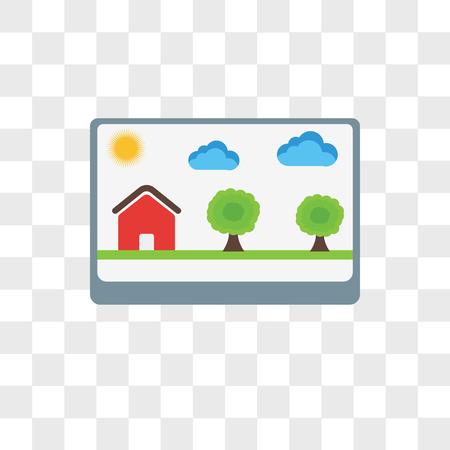 Photo vector icon isolated on transparent background, Photo logo concept Foto de archivo - 106759948