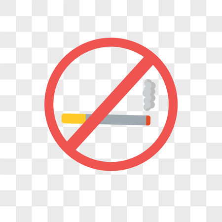 No smoking vector icon isolated on transparent background, No smoking logo concept