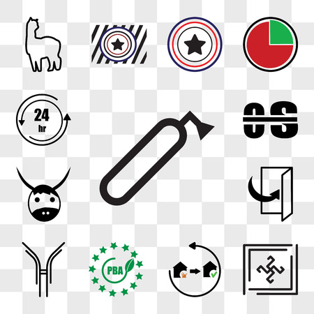 Set Of 13 transparent editable icons such as fire dept, Black swastik, disaster recovery, bpa free, antibody, flip over, yak, occupational therapy, 24 hr, web ui icon pack, transparency set