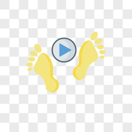 Ślady wektor ikona na białym tle na przezroczystym tle, koncepcja logo ślady Logo