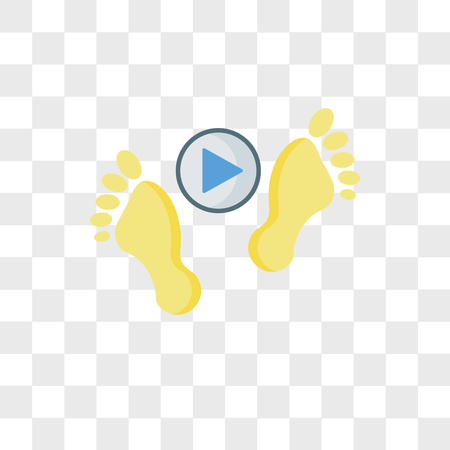 Footprints vector icon isolated on transparent background, Footprints logo concept