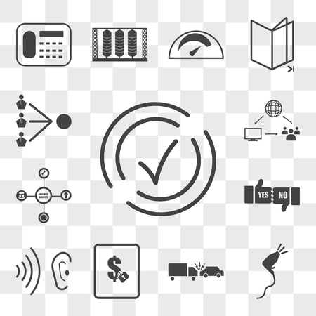 Set Of 13 transparent icons such as compliant, pressure washing, incident, fixed price, whisper, yes no, employee benefits, supply chain management, web ui editable icon pack, transparency set