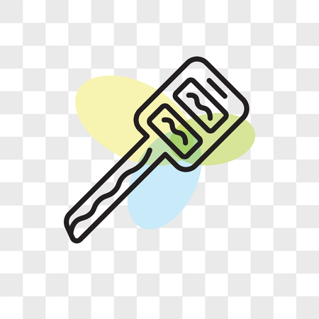Car key vector icon isolated on transparent background, Car key logo concept