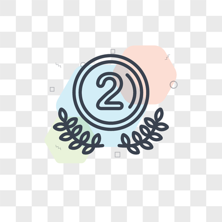 Second vector icon isolated on transparent background, Second logo concept