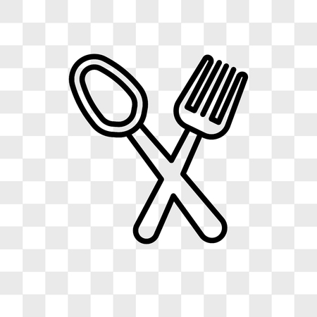 Restaurant vector icon isolated on transparent background, Restaurant logo concept