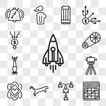Set Of 13 transparent editable icons such as stellar lumens, bingo card, mentorship, cougar, core value, surveyor, catfish, flywheel, aggregator, web ui icon pack, transparency set