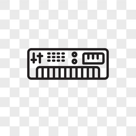 Synthesizer vector icon isolated on transparent background, Synthesizer logo concept Ilustracja