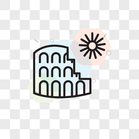 Colosseum vector icon isolated on transparent background, Colosseum logo concept Ilustrace