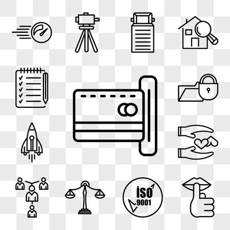 Satz von 13 transparenten bearbeitbaren Symbolen wie Leerung, Stille, ISO 9001, Benchmarking, Mentoring, loyal, stellare Lumen, Datenschutzverletzung, Checkliste, Web-UI-Icon-Pack, Transparenzset
