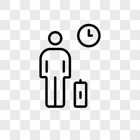 Waiting room vector icon isolated on transparent background, Waiting room logo concept Vettoriali