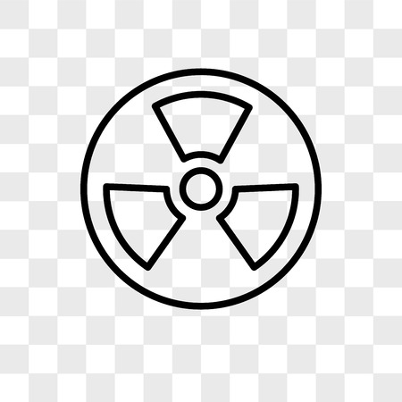 Nuclear vector icon isolated on transparent background, Nuclear logo concept Ilustração